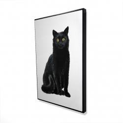 Framed 24 x 36 - 3D - Black cat