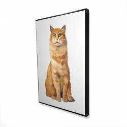 Framed 24 x 36 - 3D - Ginger cat