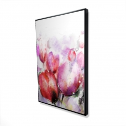 Framed 24 x 36 - 3D - Abstract blurry tulips