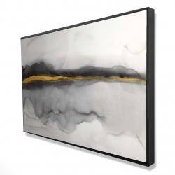 Framed 24 x 36 - 3D - Gold stripe abstract