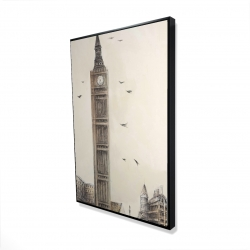 Framed 24 x 36 - 3D - Big ben in london