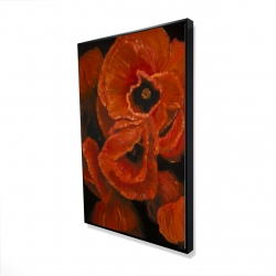 Framed 24 x 36 - 3D - Poppy bouquet