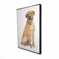 Framed 24 x 36 - 3D - Labrador retriever