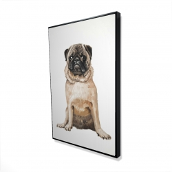 Framed 24 x 36 - 3D - Pug