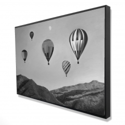Framed 24 x 36 - 3D - Air balloon landscape