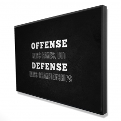 Framed 24 x 36 - 3D - Offense wins games...