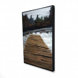 Framed 24 x 36 - 3D - Dock and lake