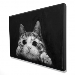 Framed 24 x 36 - 3D - Curious cat