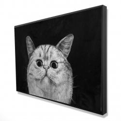Framed 24 x 36 - 3D - Watching cat