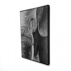 Framed 24 x 36 - 3D - Elephant