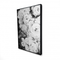 Framed 24 x 36 - 3D - Monochrome rose garden