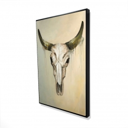 Framed 24 x 36 - 3D - Color fading bull skull