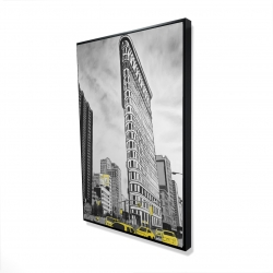 Framed 24 x 36 - 3D - Outline of flatiron building to new-york