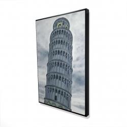 Framed 24 x 36 - 3D - Tower of pisa in italy