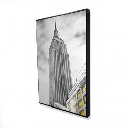 Framed 24 x 36 - 3D - Outline of empire state building