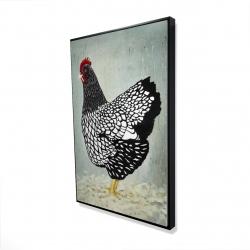 Framed 24 x 36 - 3D - Wyandotte  hen