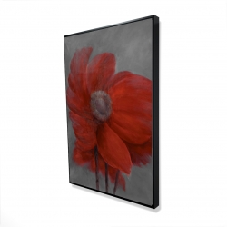 Framed 24 x 36 - 3D - Red flower in the wind