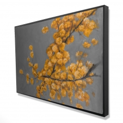 Framed 24 x 36 - 3D - Golden wattle plant with pugg ball flowers