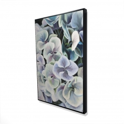 Framed 24 x 36 - 3D - Colorful hydrangea flowers