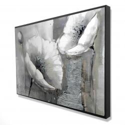 Framed 24 x 36 - 3D - Industrial monochrome flowers