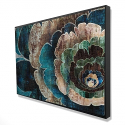 Framed 24 x 36 - 3D - Blue flower montage