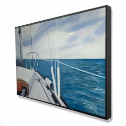 Framed 24 x 36 - 3D - Sail on the water
