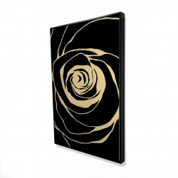 Framed 24 x 36 - 3D - Black rose
