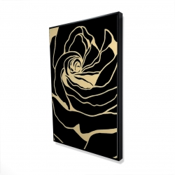 Framed 24 x 36 - 3D - Cutout black rose