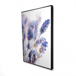 Framed 24 x 36 - 3D - Watercolor lavender flowers with blur effect