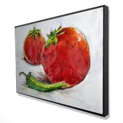 Framed 24 x 36 - 3D - Tomatoes with jalapeño