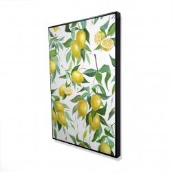 Framed 24 x 36 - 3D - Lemon pattern