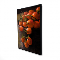 Framed 24 x 36 - 3D - Bucket of cherry tomatoes
