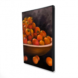 Framed 24 x 36 - 3D - Bowl of cherry tomatoes