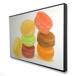 Framed 24 x 36 - 3D - Delicious macaroons