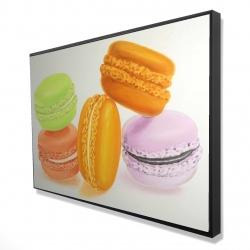Framed 24 x 36 - 3D - Small bites of macaroons