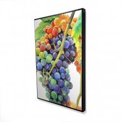 Framed 24 x 36 - 3D - Colorful bunch of grapes