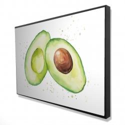 Framed 24 x 36 - 3D - Watercolor open avocado