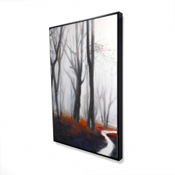 Framed 24 x 36 - 3D - Mysterious forest with stream