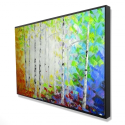Framed 24 x 36 - 3D - Colorful forest