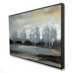 Framed 24 x 36 - 3D - Grey landscape