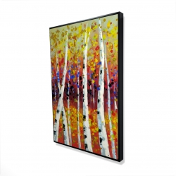 Framed 24 x 36 - 3D - Colored birches