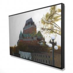 Framed 24 x 36 - 3D - Le château de frontenac in autumn