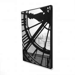 Framed 24 x 36 - 3D - Clock at the orsay museum