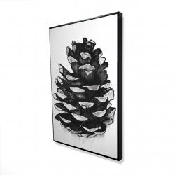 Framed 24 x 36 - 3D - Pine cone