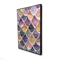 Framed 24 x 36 - 3D - Purple like a mermaid
