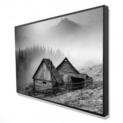 Framed 24 x 36 - 3D - Mountain carpathian village