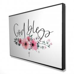 Framed 24 x 36 - 3D - God bless
