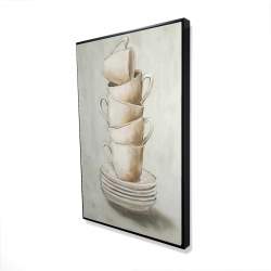 Framed 24 x 36 - 3D - Stacked cups