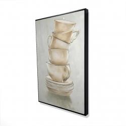 Framed 24 x 36 - 3D - Coffee mugs
