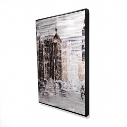 Framed 24 x 36 - 3D - Industrial abstract city